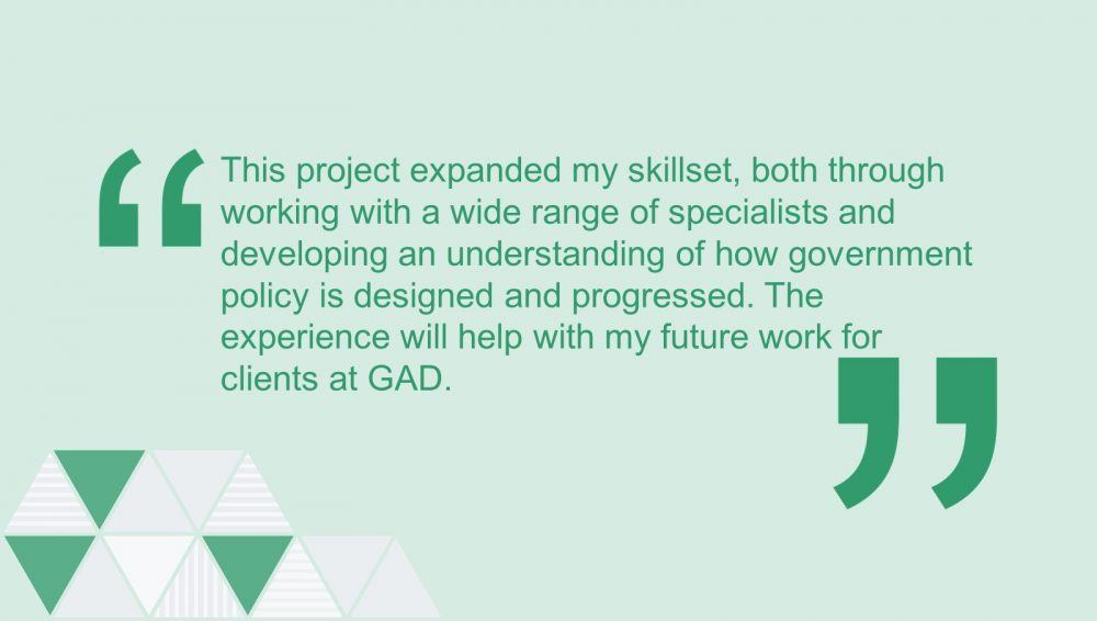 Quote from a GAD actuary on their secondment experience.