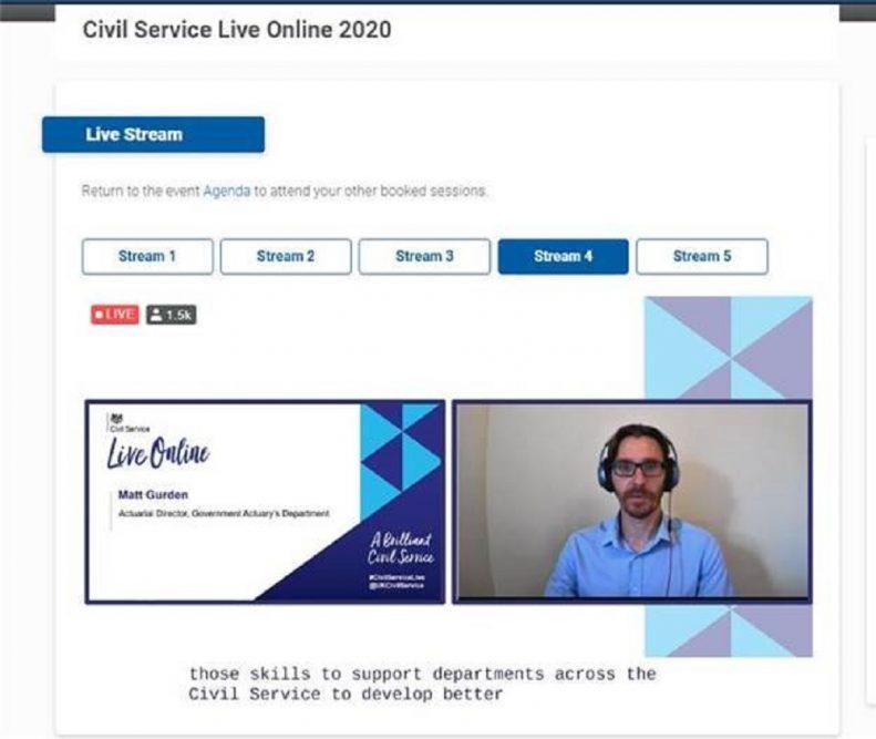 Screen grab of man presenting at a webinar.
