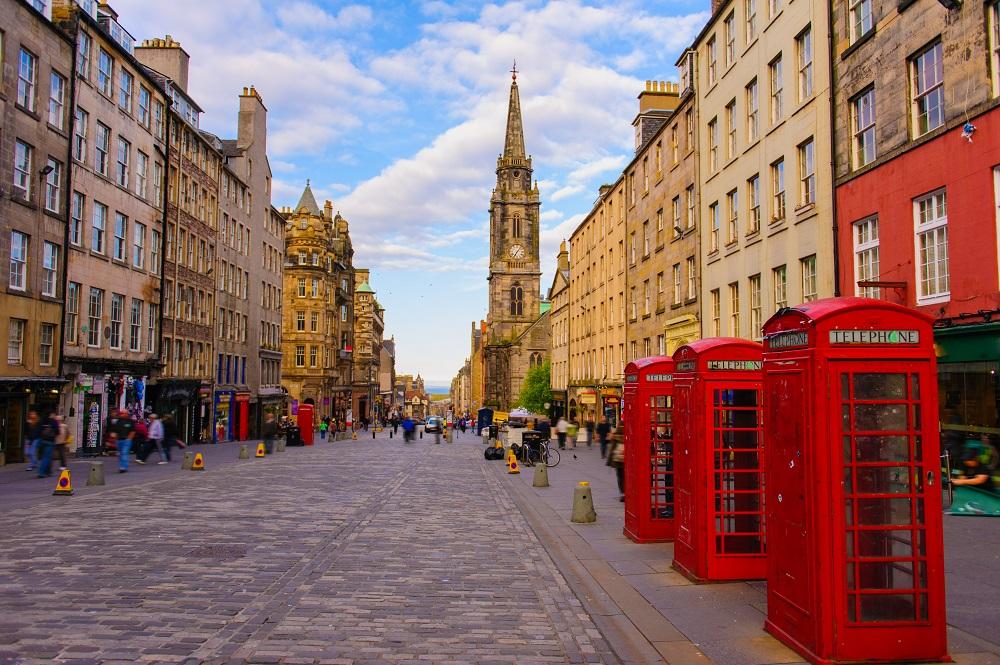 View of Edinburgh old town.