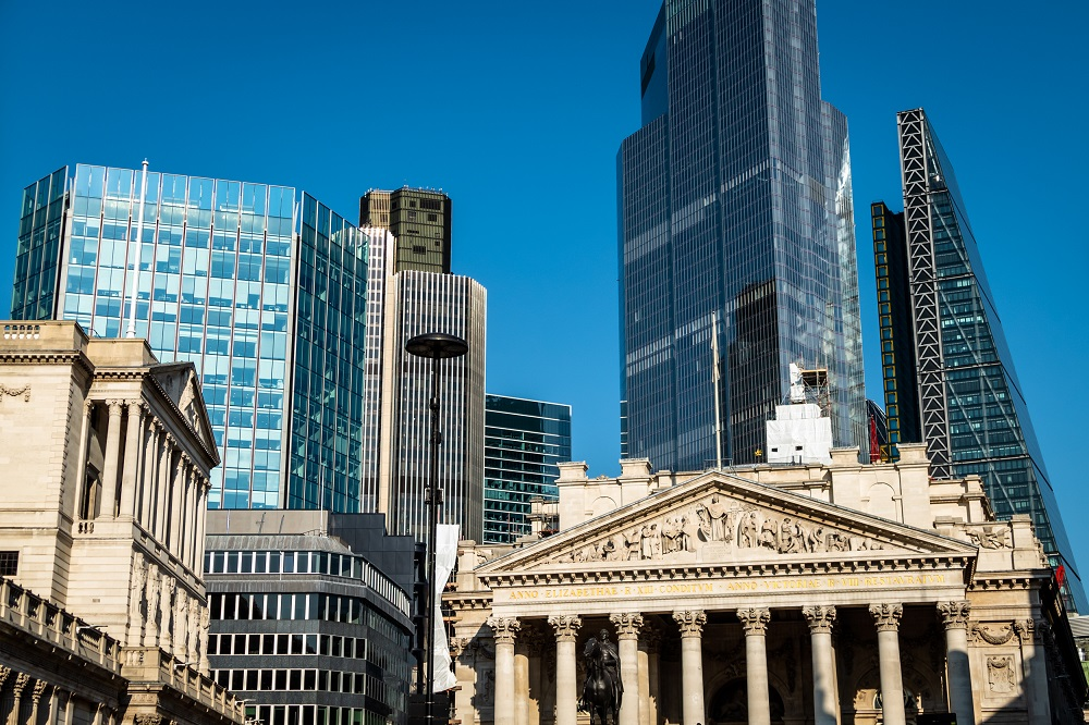 Bank of England and buildings surrounding it